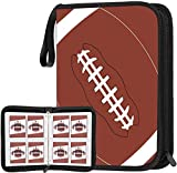 POKONBOY 400 Pockets Football Card Binder, Football Trading Cards, Display Case with Football Card Sleeves Card Holder Protectors Set for Football Cards