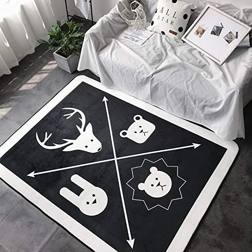 Nordicstyle tapijt in de woonkamer, Door Floor Mat |Utility Hall Long Runner Deurmat Rug |Multifunctionele, Antislip en wasbaar |140x 195cm |decor Kussen jilisay (Color : Small Animals)