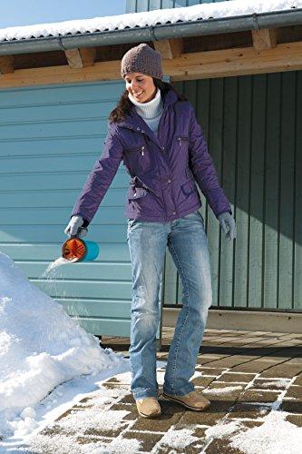GARDENA Kleinstreuer S Aktion: Streugutbehälter und Handstreuer geeignet für Sand, Salz und Splitt, zum Streuen im Winter, einzigartiges Dosiersystem, auch für Dünger und Saatgut verwendbar (3255-30) - 2