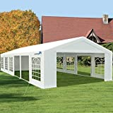 Peaktop Outdoor 20'X40' Party Tent Heavy Duty Wedding Tent Outdoor Gazebo Event Shelter Canopy with Carry Bags