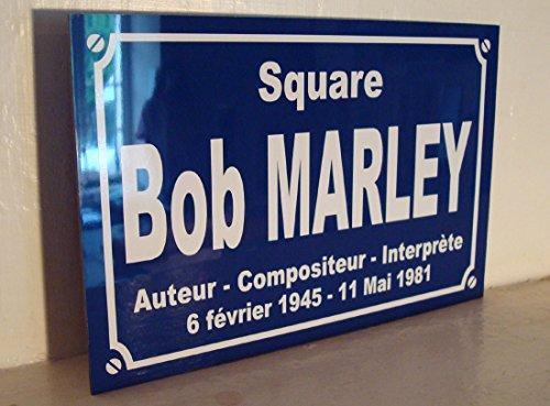 Square BOB MARLEY déco Reggae rastafari Plaque de rue cadeau