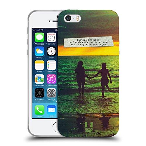Head Case Designs Best Sisters Amore E Tramonti Cover in Morbido Gel e Sfondo di Design Abbinato Compatibile con Apple iPhone 5 / iPhone 5s / iPhone SE 2016