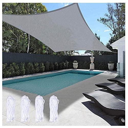 FFKL VIIPOOSonnenschutz Sail Sunblock Shade Tuch Rechteck Wasserdicht Segel Baldachin UV-Block, Für Dacher Pavillon Garten Segel-Baldachin,Gray-2x2m