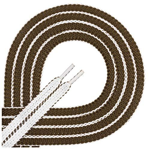 Di Ficchiano 1 paar kwaliteitsveters van polyester – tweekleurig – scheurvast – vlak – ca. 8,0 mm breed, 60-120 cm lengte