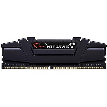 Gskill F4-3200C16S-16GVK mastica V memoria RAM da 16 GB (D4 3200, C16, 1,35 V), nero