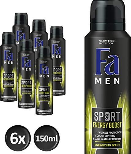 Fa Men Sport Double Power Boost Deodorant - 6 stuks 150ml - Voordeelverpakking