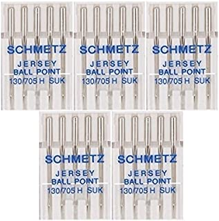 25 Schmetz Jersey Ball Point Sewing Machine Needles 130/705 H SUK Size 80/12
