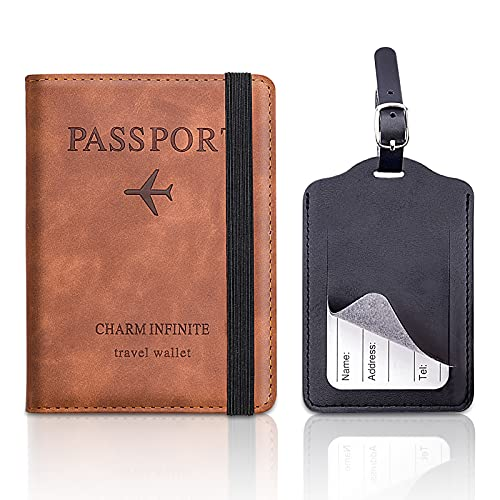MELLIEX Custodia per Passaporto Custodia per Portafoglio da Viaggio Custodia Protettiva RFID con Cinturino Porta Documenti per Passaporto Pass