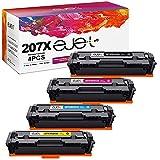 ejet 207X Cartuchos de tóner Compatible para HP 207X 207A W2210X W2211X W2212X W2213X para HP Color Laserjet Pro MFP M283fdw M283cdw M283fdn M282nw Pro M255dw M255nw M255dn (Sin Chip)