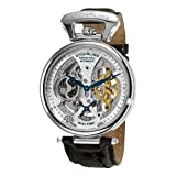 Stührling Original Mens Skeleton Watch Dial Automatic Watch with Calfskin Leather Band and - Dual...