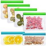 Adoric Reusable Snack Bags, Silicone Food Storage Bags BPA Free, Eco-Friendly Airtight Seal