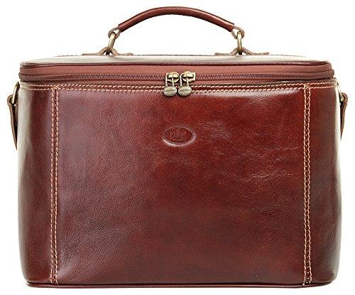 Piké Beauty Case Echt Leder braun Damen - 017605