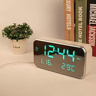 LWBUKK Intelligent Three Group Alarm Clock LED Electronic Watch Luminous Mute Bedroom Student Bed Digital Table Clock Wake...