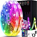 100Ft Color Changing LED Strip Lights with Music Sync & Remote