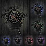 Vintage Custom Tattoo Vinilo Record Wall Clock Custom Order Your design Your logo Your Image Custom Tattoo Shop Vinilo Clock Sin LED