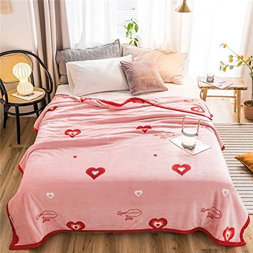 RONGXIE Neue Rosa Decken Prinzessin Quilts Twin Voll Königin König Mädchen Decken Weiche Werfen Flanelldecke Auf Bett/Auto/Sofa Blumenteppiche Home Camping Bettwäsche