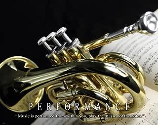 Music Instruments Motivational Poster Art Print 11x14 Trumpet Jazz Band Teacher Lessons Sheet Music Wall Decor Pictures
