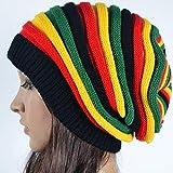 Sombrero de Punto Beanie Crochet Winter Hip Hop Multicolor Rayas Beanie Sombreros para Hombres Mujeres Sombrero de Punto de Cable