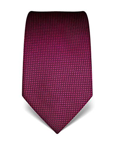 Vincenzo Boretti Herren Krawatte reine Seide Karo Muster kariert edel Männer-Design zum Hemd mit Anzug für Business Hochzeit 8 cm schmal/breit fuchsia