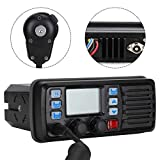 Garsent 25 vatios de Montaje Fijo Radio Marina VHF Radio móvil Marina para Barcos VHF Canal meteorológico Receptor GPS Externo