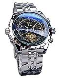 Jaragar Orologio da polso da uomo sportivo militare di lusso meccanico automatico Tourbillion Design Calendario