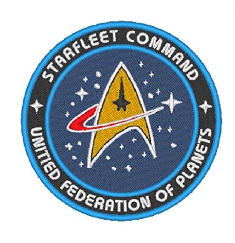 Marel - Parche de Star Trek United Federation of Planets - Parche termoadhesivo bordado de 8 cm - Replica - 1298