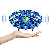 🚁 【Drone Manuel haute Technologie Sans Télécommande】Les jouets pour drones UFO pour enfants utilisent des capteurs de mouvement infrarouges de haute technologie pour détecter les obstacles et opérés à la main. les meilleurs cadeaux de jouets drone vo...