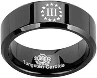 Wedding Band and Anniversary Ring Friends of Irony Black Tungsten Carbide Matthew 28:20 Ring 8mm Bible Verse Designed Fit for Men and Women Use Size 7