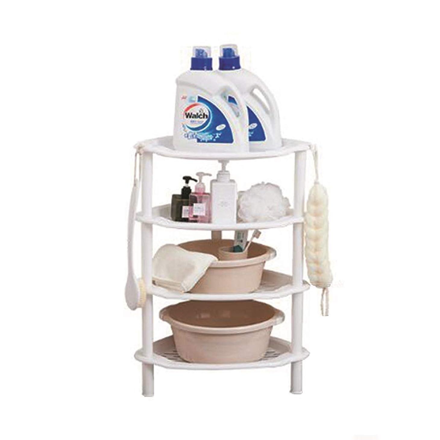 端末振る舞いボイドYQQ-棚 強い白いプラスチック製のシャワーキャディコーナー棚バスルームラックキッチン収納ユニットクイック構築するのは簡単きれいに