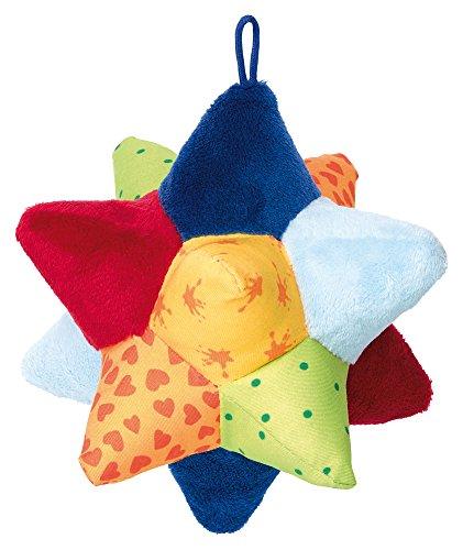 sigikid, Mädchen und Jungen, Soft-Aktiv-Sternball, PlayQ Basic Steps, Lern und Experimentierspielzeug, Mehrfarbig, 41767