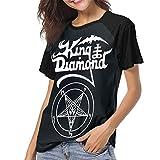 Yuanmeiju Camiseta para Mujer,Camisa King Diamond The Graveyard Women's Casual Short Sleeve T-Shirts Crew Neck Wicking Baseball tee Tops y Blusas