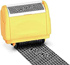 WAFJAMF Rolling Identity Theft Guard Stamp (ID Theft Roller Stamp)-Yellow