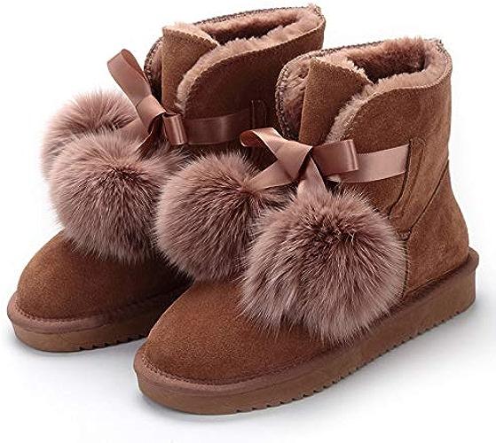 Shukun Bottes de neige Bottes de Neige en Tube d'hiver antidérapantes pour Femmes, Chaussures Chaudes, Bottines en Coton