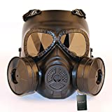 WISEONUS Maschera Airsoft Maschere Tattico con Lente antifiamma Giochi CS Paintball BBS Protection Gear