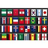 WM 2018 Fahnenkette Flaggenkette 32 Teilnehmer Wimpel-Kette 8,5 Meter Girlande