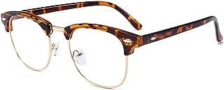Classic Style Clubmaster Anti UV Anti Blue Light Computer Reading Glasses Video Gaming Eyewear Harlf Frame Tortoiseshell