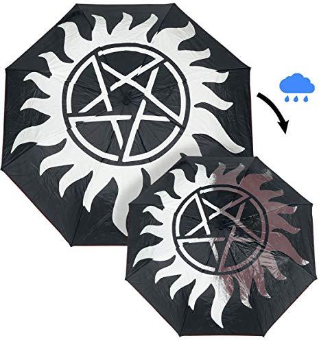 Supernatural Schirm Anti Possession Symbol mit Aqua Effekt Ø98cm schwarz