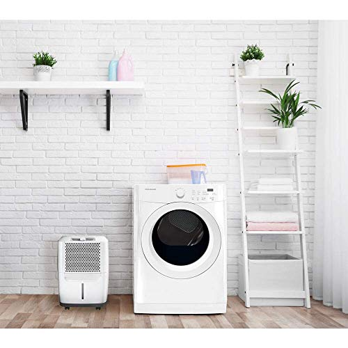Frigidaire FAD301NWD Powerful 30 Pints Medium Room Home Odor Removing Dehumidifier Portable Unit, White (Renewed)