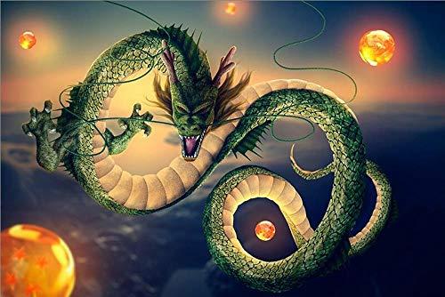 SiJOO Dragon Ball El Rompecabezas de Madera 1000 Piezas ersion Rompecabezas Tarjeta Blanca Juguetes educativos para niños Adultos
