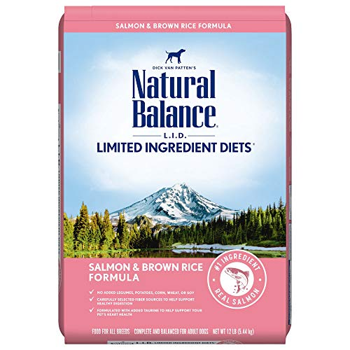 Natural Balance L.I.D. Limited Ingredient Diets Dry Dog Food, Salmon & Brown Rice Formula, 12 Pounds