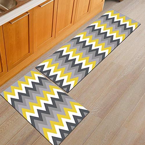 HLXX Alfombrillas geométricas Antideslizantes para baño, Dormitorio, alfombras de Noche, Alfombrillas para el Suelo, alfombras para Cocina, Alfombrillas para Puertas A7 50x80cm