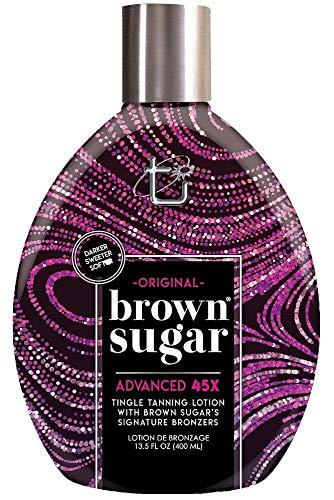 Original Brown Sugar 13.5oz Tingle 45 Bronzer Tanning Bed Lotion