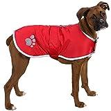 Vivi Bear abrigo para perros suéter para perros Con impermeable reflectante El diseño de velcro es fácil de ajustar Chaleco de invierno Adecuado para cachorros,perros de tamaño mediano y perros grande