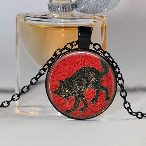 Alphonse Mucha Halskette Schmuck Art Nouveau Glas-Halskette Cabochon Mucha Schmuck Schmuck Geschenk Halskette