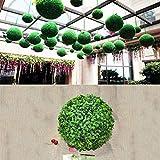 JSANSUI Decoración del Aula Planta Artificial Bola Aglaia odorata Topiary Boda Evento decoración del hogar al Aire Libre Fuera de la Florida (diámetro: 6,7 Pulgadas)