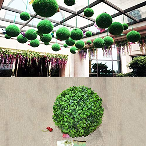 JSANSUI Classroom decoration Artificial Aglaia Odorata Plant Ball Topiary Wedding Event Home Outdoor Decoration Hanging Ornament (Diameter: 6.7 inch)