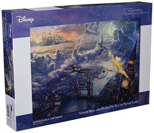 1000ピース ジグソーパズル ピーターパン Tinker Bell and Peter Pan Fly to Never Land スペシャルアートコレクション (51x73.5cm)