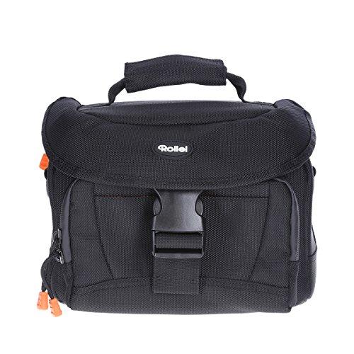 Rollei Fotoliner Fototasche Klassik I robuste Kamera-Tasche für DSLR und DSLM Kameras I inkl. Wasserdichten Reißverschlüssen und Tragegurt