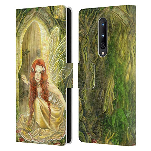 Head Case Designs Licenciado Oficialmente Selina Fenech Umbral Hadas Carcasa de Cuero Tipo Libro Compatible con OnePlus 8 5G