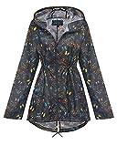 shelikes New Ladies Hooded Daisy Raincoats Sizes XS-XXL (S, Multi Butterfly)